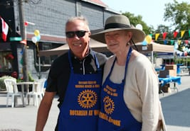 George volunteers for the Wasaga Beach Rotary Club.