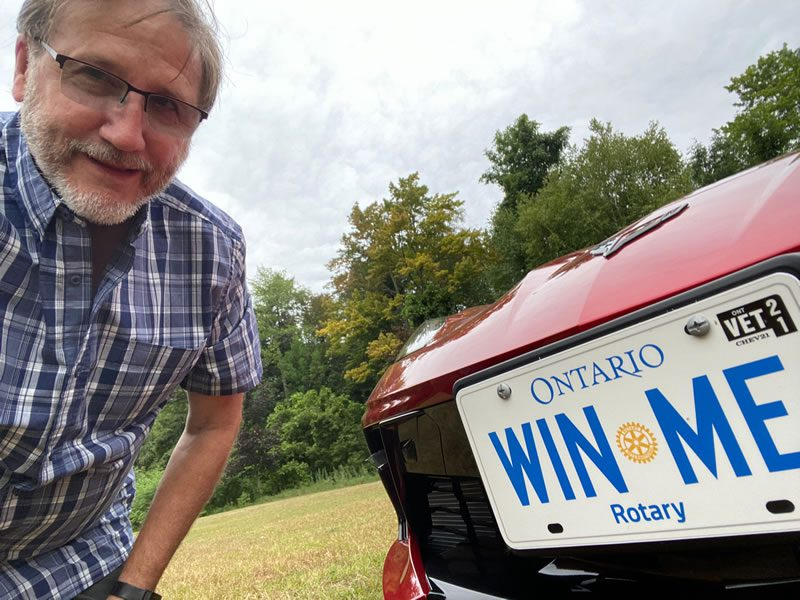 Rotarian Steve Wallace with the Corvette