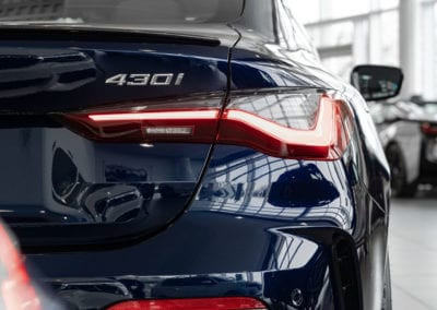 BMW 430i from the rear