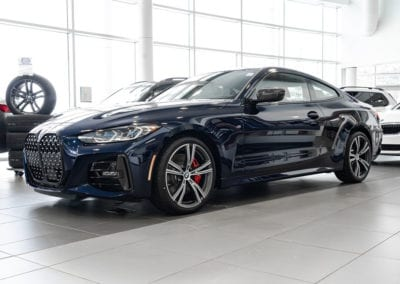 BMW 4-Series Coupe in Showroom